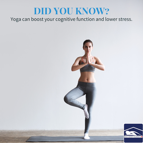 1.	Yoga can boost your cognitive function and lower stress.
