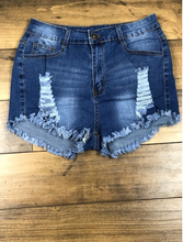 Load image into Gallery viewer, Hollow Denim Shorts