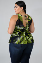 Load image into Gallery viewer, Palms Plus Size Top