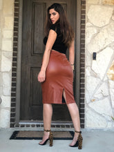 Load image into Gallery viewer, Pumpkin Spice Leather Skirt