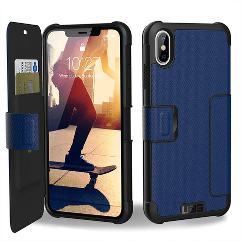 Shop UAG METROPOLIS CARD FOLIO CASE FOR IPHONE XS MAX - COBALT  from Syntricate Asia