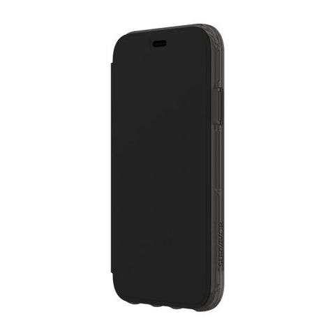 Shop GRIFFIN SURVIVOR CLEAR CARD WALLET FOLIO CASE FOR IPHONE XR - BLACK/CLEAR Cases & Covers from Griffin