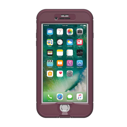 Shop Lifeproof Nuud Waterproof Case for iPhone 7 Plus - Purple/Berry Cases & Covers from Lifeproof