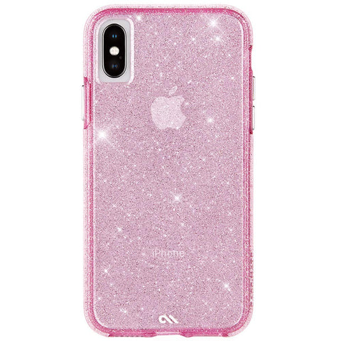 Shop CASEMATE SHEER CRYSTAL PROTECTIVE CASE FOR IPHONE XS/X - BLUSH Cases & Covers from Casemate