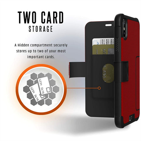 Shop UAG METROPOLIS CARD FOLIO CASE FOR IPHONE XS MAX -MAGMA  from Syntricate Asia