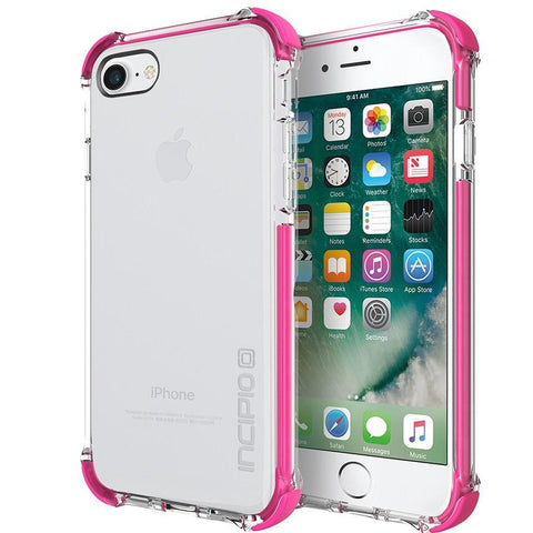 buy online rugged clear case pink colour for iphone 7