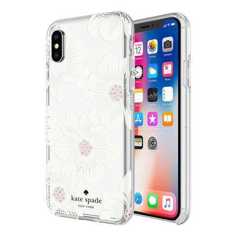 Shop KATE SPADE NEW YORK PROTECTIVE HARDSHELL CASE FOR IPHONE XS MAX - HOLLYHOCK FLORAL Cases & Covers from Kate Spade New York