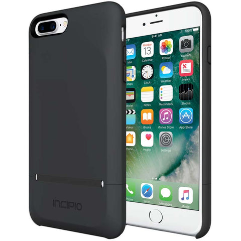 black case with card slot for iphone 7 plus from incipio