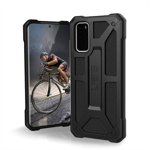"Shop UAG Monarch Handcrafted Rugged Case For Galaxy S20 (6.2"") - Black Cases & Covers from UAG"