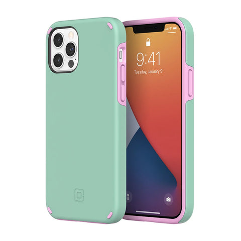 "INCIPIO DualPro Dual Layer Case For iPhone 12 Pro / 12 (6.1"") - Mint/Pink"