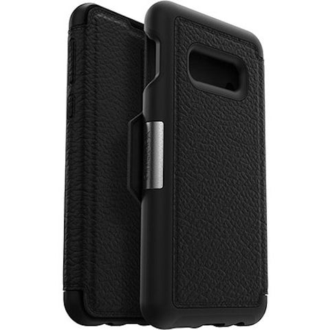 black leather folio case for new samsung galaxy s10e