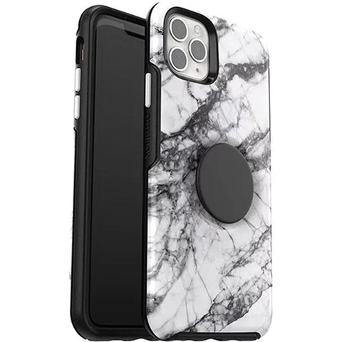 "Shop Otterbox Otter + Pop Symmetry Case For iPhone 11 Pro Max (6.5"") - White Marble Cases & Covers from Otterbox"