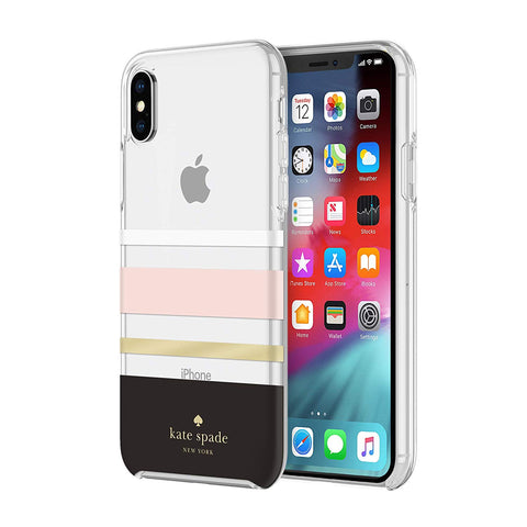Shop KATE SPADE NEW YORK PROTECTIVE HARDSHELL CASE FOR IPHONE XS MAX - CHARLOTTE STRIPE Cases & Covers from Kate Spade New York