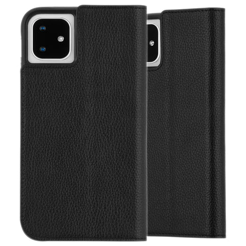 "Shop CaseMate Leather Wallet Folio Case For iPhone 11 (6.1"") - Black  from Syntricate Asia"