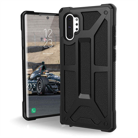Shop UAG MONARCH HANDCRAFTED LEATHER RUGGED CASE FOR GALAXY NOTE 10 PLUS / NOTE 10 PLUS 5G (6.8-INCH) - BLACK Cases & Covers from UAG