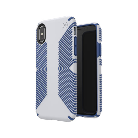 Shop SPECK PRESIDIO GRIP IMPACTIUM CASE IPHONE XS/X- GREY/BLUE  from Syntricate Asia