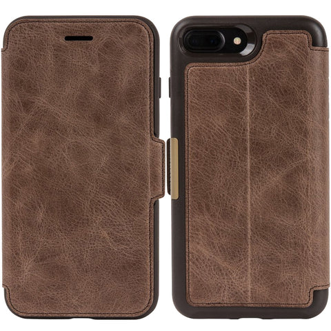 Shop OtterBox Strada Leather Card Folio Case for iPhone 8 Plus/7 Plus - Espresso Cases & Covers from Otterbox