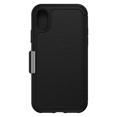 Shop OTTERBOX STRADA LEATHER CARD FOLIO CASE FOR IPHONE XS MAX - BLACK (SHADOW) Cases & Covers from Otterbox