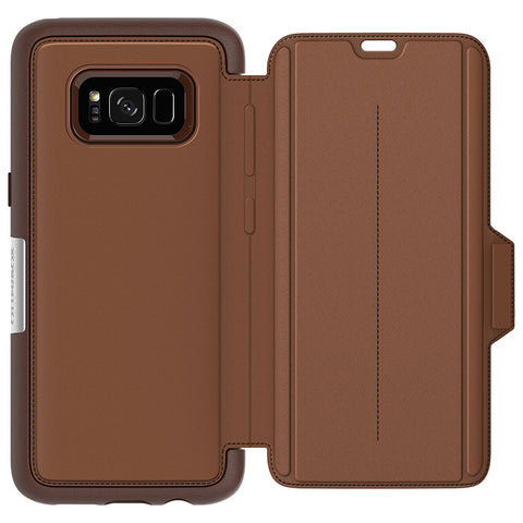 Shop OTTERBOX STRADA PREMIUM LEATHER FOLIO CASE FOR SAMSUNG GALAXY S8+ (6.2 inch) - BURNT SADDLE Cases & Covers from Otterbox