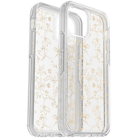 glittery case from OTTERBOX to make your iphone 12 pro/12 more stand out and elegant with gold flower design, buy online at syntricate Asia.