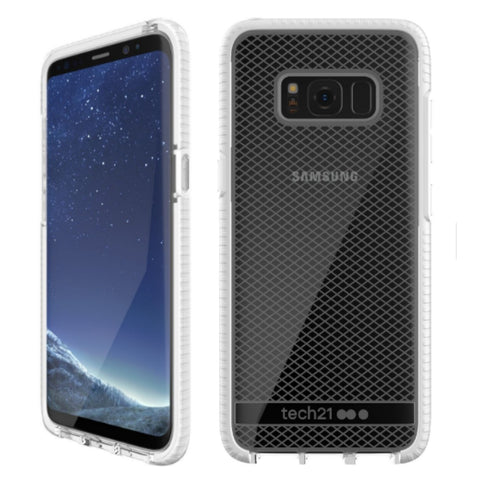 Shop Tech21 EVO CHECK FLEXSHOCK CASE FOR GALAXY S8+ (6.2 inch) - CLEAR/WHITE Cases & Covers from TECH21