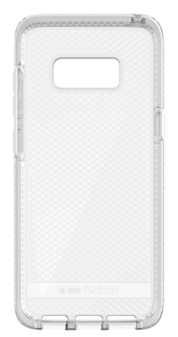 Tech21 EVO CHECK FLEXSHOCK CASE FOR GALAXY S8+ (6.2 inch) - CLEAR/WHITE