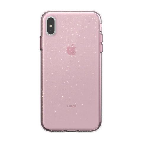 SPECK PRESIDIO CLEAR GLITTER IMPACTIUM CASE FOR iPHONE XS MAX - BELLA PINK GOLD