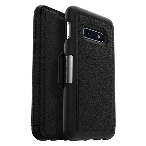 Shop OTTERBOX STRADA LEATHER FOLIO CASE FOR GALAXY S10E (5.8-INCH) - BLACK Cases & Covers from Otterbox