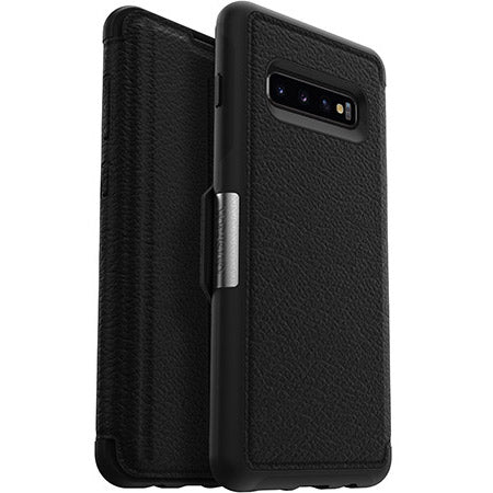 Shop OTTERBOX STRADA LEATHER FOLIO CASE FOR SAMSUNG GALAXY S10 PLUS (6.4-INCH) - BLACK Cases & Covers from Otterbox