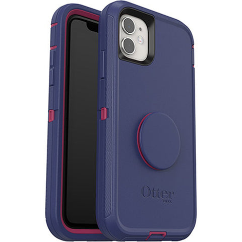 "Shop Otterbox Otter + Pop Defender Screenless Case For iPhone 11 (6.1"")  - Grape Jelly Cases & Covers from Otterbox"