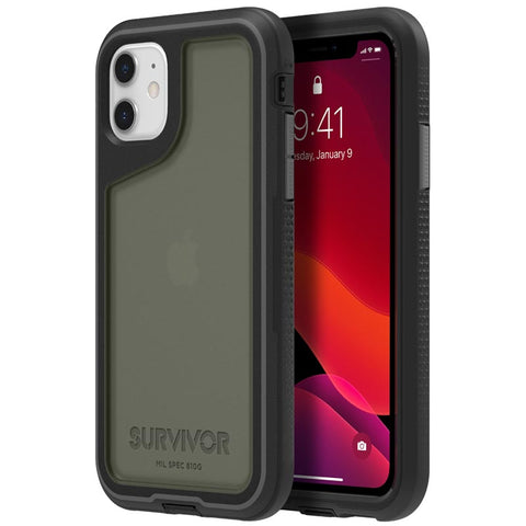 "GRIFFIN Survivor Extreme Case for iPhone 11 (6.1"") - Black/Gray/Smoke"