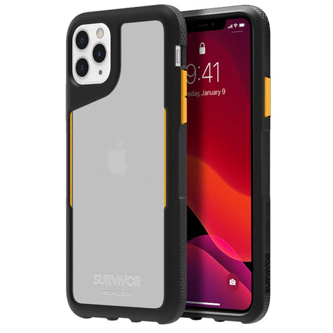 "Shop GRIFFIN Survivor Endurance Case For iPhone 11 Pro Max (6.5"") -Black/Citrus/Clear Cases & Covers from Griffin"