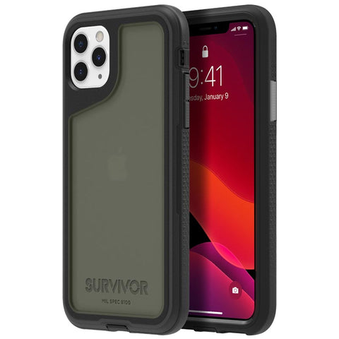 "Shop GRIFFIN Survivor Extreme Case for iPhone 11 Pro Max (6.5"") - Black/Gray/Smoke Cases & Covers from Griffin"