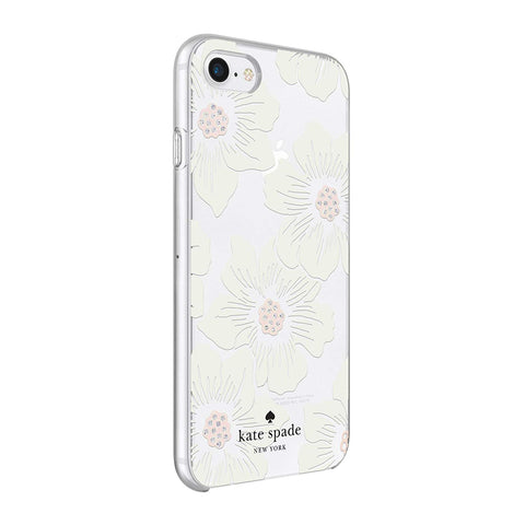 Shop KATE SPADE NEW YORK PROTECTIVE HARDSHELL CASE FOR iPHONE 8/7/6S - HOLLYHOCK FLORA Cases & Covers from Kate Spade New York