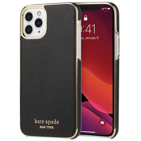 "Shop KATE SPADE NEW YORK Inlay Wrap Case For iPhone 11 Pro (5.8"") - Black Crumbs Cases & Covers from Kate Spade New York"