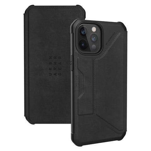 "UAG Metropolis Card Folio Case For iPhone 12 Pro Max (6.7"") -  Leather Black"