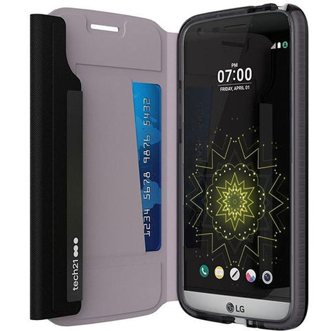 Shop Tech21 Evo Wallet Card Folio Case for LG G5 - Black Cases & Covers from TECH21