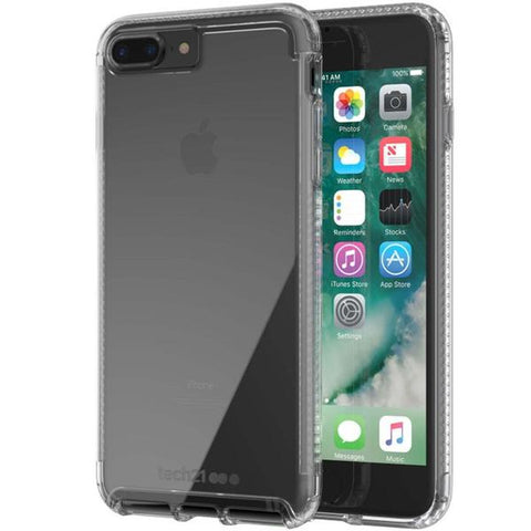 Shop TECH21 PURE CLEAR BULLETSHIELD CASE FOR iPHONE 8 PLUS/7 PLUS - CLEAR Cases & Covers from TECH21