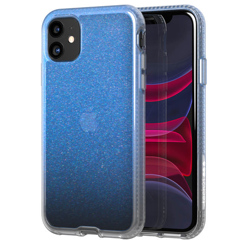 "Shop Tech21 Pure Shimmer Tough Case For iPhone 11 (6.1"") - Blue Cases & Covers from Tech21"