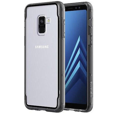 Shop GRIFFIN SURVIVOR CLEAR CASE FOR SAMSUNG GALAXY A8 PLUS - SMOKE/BLACK Cases & Covers from Griffin