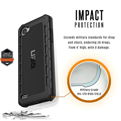 Shop UAG OUTBACK RUGGED CASE FOR LG Q6/Q6 PLUS - BLACK  from Syntricate Asia