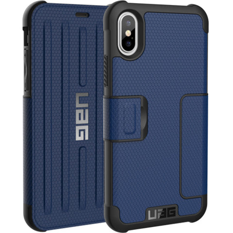 Shop UAG METROPOLIS CARD FOLIO CASE FOR iPHONE XS / iPHONE X - COBALT  from Syntricate Asia