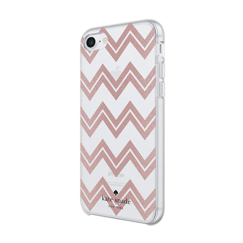 Shop KATE SPADE NEW YORK PROTECTIVE HARDSHELL CASE FOR iPHONE 8/7/6S - CHEVRON  from Syntricate Asia