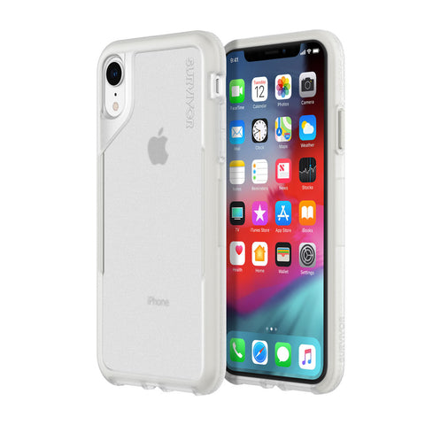 Shop GRIFFIN SURVIVOR ENDURANCE CASE FOR IPHONE XR - CLEAR/GRAY Cases & Covers from Griffin