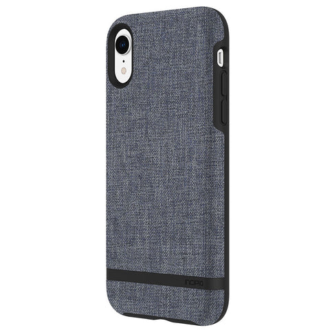 Shop INCIPIO CARNABY ESQUIRE SMOOTH FABRIC BACK CASE FOR IPHONE XR - BLUE Cases & Covers from Incipio