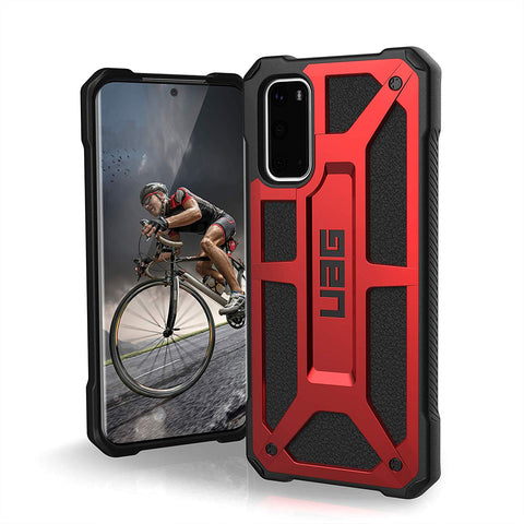 "Shop UAG Monarch Handcrafted Rugged Case For Galaxy S20 (6.2"") - Crimson Cases & Covers from UAG"