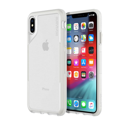 Shop GRIFFIN SURVIVOR ENDURANCE CASE FOR IPHONE XS MAX - CLEAR/GRAY Cases & Covers from Griffin
