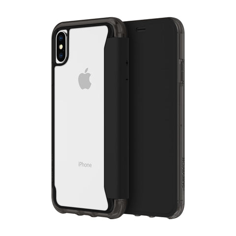 Shop GRIFFIN SURVIVOR CLEAR WALLET CARD FOLIO CASE FOR IPHONE XS/X - BLACK/CLEAR Cases & Covers from Griffin