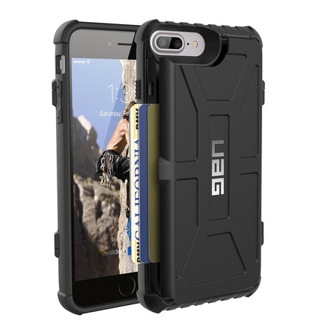 Shop UAG Trooper Credit Card Case for iPhone 8 Plus/7 Plus/6S Plus - Black Cases & Covers from UAG