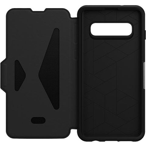Shop OTTERBOX STRADA LEATHER FOLIO CASE FOR SAMSUNG GALAXY S10 (6.1-INCH) - BLACK Cases & Covers from Otterbox